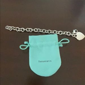 Tiffany Hearts .925 Sterling Silver bracelet 7""
